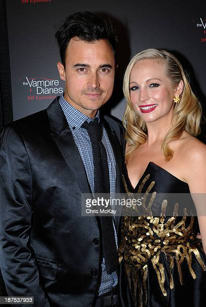 Joe King and Candice Accola attend The Vampire Diaries 100th Episode Celebration on November 9 2013 in Atlanta Georgia