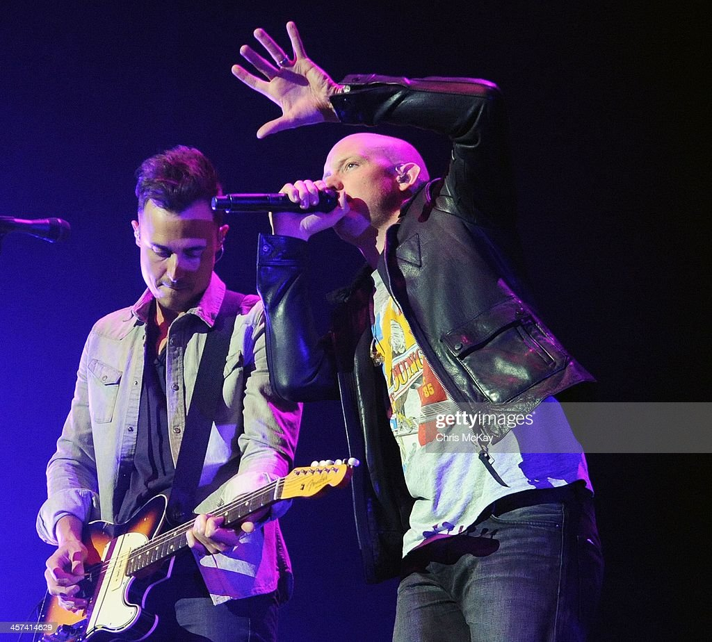 Joe King and Isaac Slade of The Fray perform during the 2013 Star 94 Jingle Jam at Arena at Gwinnett Center on December 16, 2013 in Duluth, Georgia.