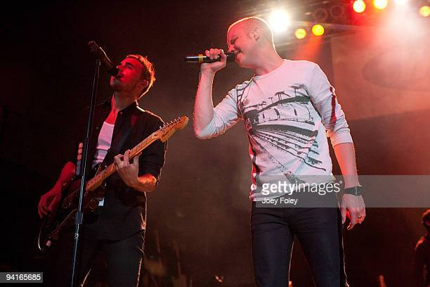 Joe King and Isaac Slade of The Fray perform live in concert at the Lifestyle Communities Pavilion on December 8 2009 in Columbus Ohio