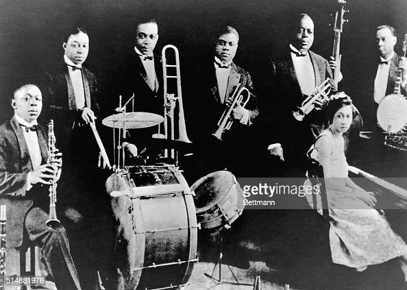 Joe King Oliver And His Creole Jazz Band Pose In Their