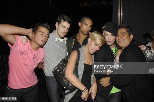 Joe Korniewicz Jeff Dorsman Paul Johnson Calderon Amanda Leigh Dunn and Louis Varahas attend ALEXANDER WANG After Party at The Gas Station at Milk...