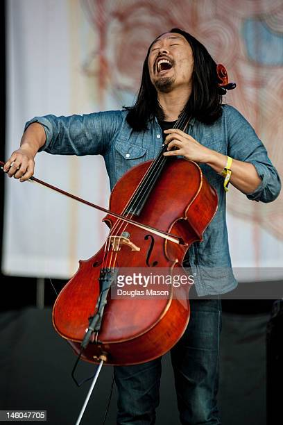 Joe Kwon of The Avett Brothers perform during the 2012 Bonnaroo Music and Arts Festival on June 8 2012 in Manchester Tennessee