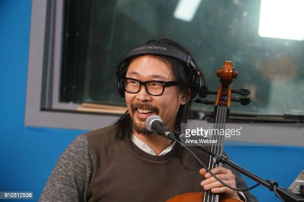 Joe Kwon performs during SiriusXM Town Hall With Judd Apatow Michael Bonfiglio The Avett Brothers Hosted By Kurt Loder at SiriusXM Studios on January...