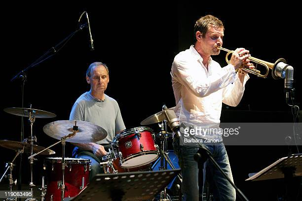 Joe La Barbera and Fabrizio Bosso perform on stage at Teatro Pavone during Umbria Jazz Festival on July 14 2011 in Perugia Italy