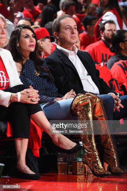Joe Lacob attends a game between the Houston Rockets and Golden State Warriors during Game Two of the Western Conference Finals of the 2018 NBA...
