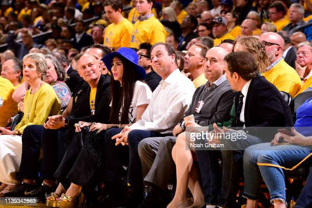 Joe Lacob, owner of the Golden State Warriors, attends Game Five of Round One against the LA Clippers during the 2019 NBA Playoffs on April 24, 2019...