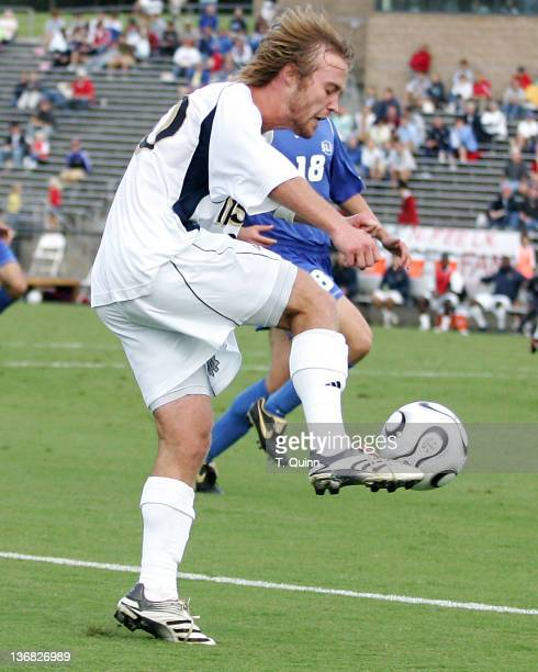 Joe Lapira controls the ball. After double over time Notre Dame and St. Louis university had to settle for a 0-0 tie in the opening game of the...