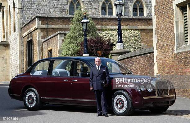 Joe Last The Queen's Head Chauffeur With The New Bentley State Limousine Car Presented To Her As A Golden Jubilee Gift On Behalf Of A Consortium Of...