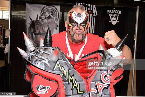 Joe Laurinaitis aka Road Warrior Animal attends the C2E2 Chicago Comic and Entertainment Expo at McCormick Place on April 24 2015 in Chicago Illinois