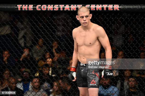 Joe Lauzon stands in his corner prior to facing Clay Guida in their lightweight bout during the UFC Fight Night event inside the Ted Constant...