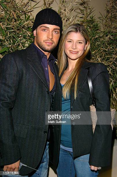 Joe Lawrence and Michelle Vella during 1st Annual Young Hollywood Holiday Party at Bliss in Los Angeles California United States