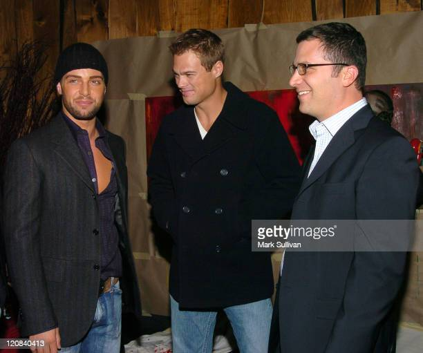 Joe Lawrence George Stults and Jordan Levin during 1st Annual Young Hollywood Holiday Party at Bliss in Los Angeles California United States