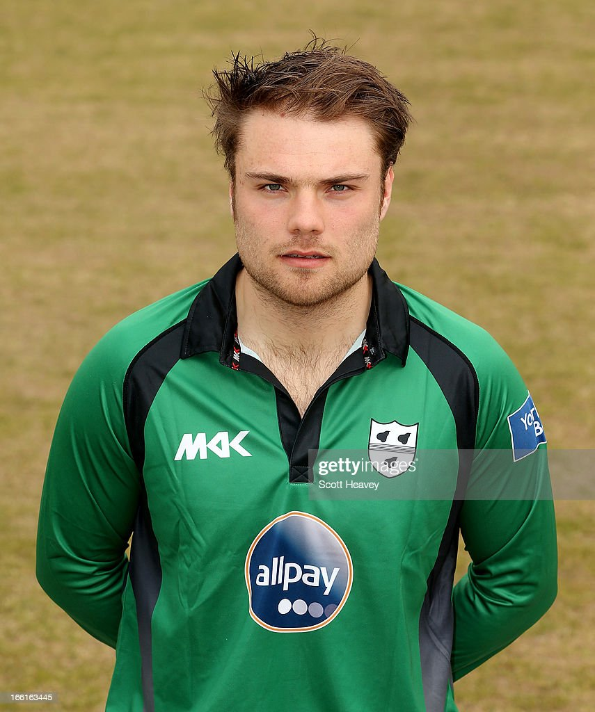 Joe Leach during a Photocall for Worcestershire County Cricket Club on April 9, 2013 in Worcester, England.