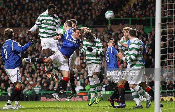Joe Ledley of Celtic scores during the Clydesdale Bank Premier League match between Celtic and Rangers at Celtic Park on December 28 2011 in Glasgow...