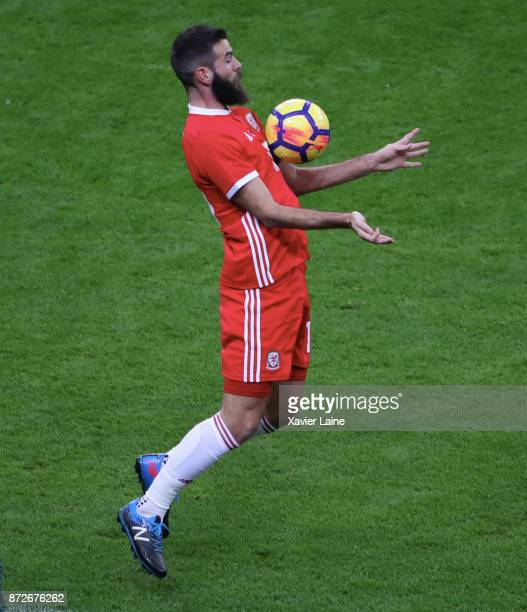 Joe Ledley of Wales in action during the friendly match between France and Wales at Stade de France on November 10 2017 in Paris France