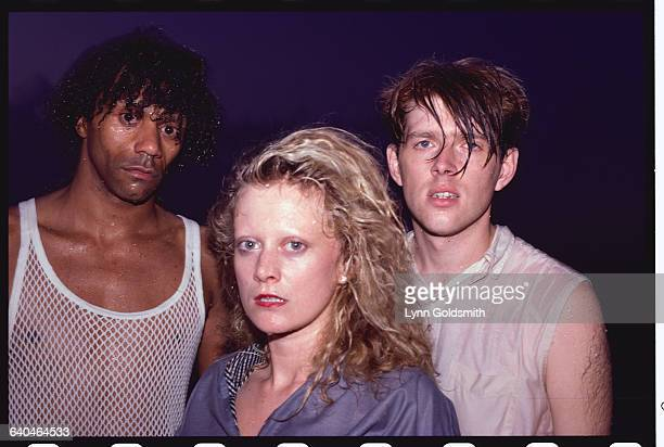 Joe Leeway Allanah Currie and Tom Bailey of the Thompson Twins