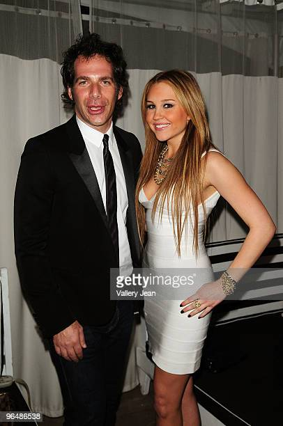 Joe Levy and actress Amanda Bynes attend The Maxim Party 2010 at The Raleigh on February 6 2010 in Miami Florida