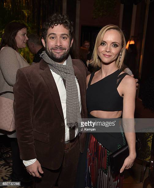 Joe Lewis and Christina Ricci attend the afterparty for Amazon's New Series 'Z The Beginning Of Everything' Premiere at The NoMad Hotel on January 25...