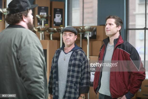 Joe Lo Truglio and Andy Samberg in the Game Night The Favor special one hour episode of BROOKLYN NINENINE airing Tuesday Dec 12 on FOX