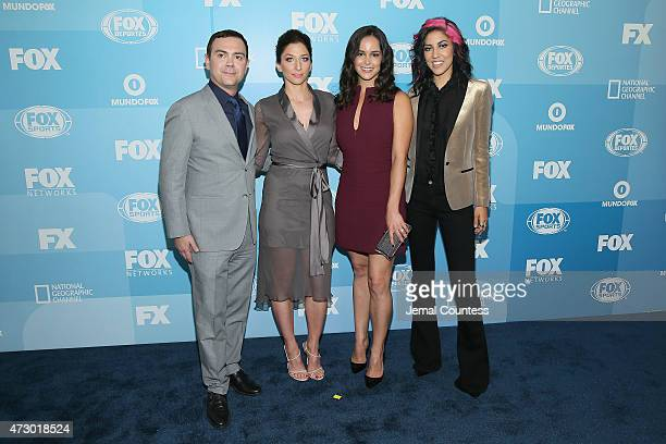 Joe Lo Truglio Chelsea Peretti Melissa Fumero and Stephanie Beatriz attend the 2015 FOX programming presentation at Wollman Rink in Central Park on...