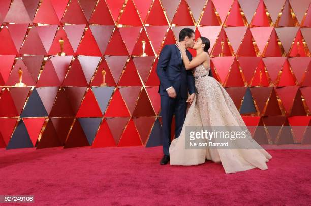 Joe LoCicero and Gina Rodriguez attends the 90th Annual Academy Awards at Hollywood Highland Center on March 4 2018 in Hollywood California