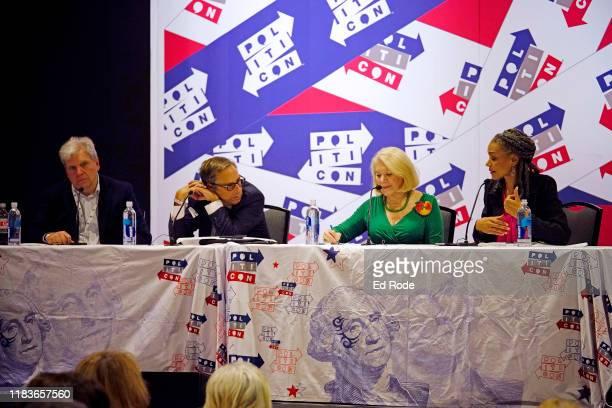 Joe Lockhart Harry Litman Jill WineBanks and Maya Wiley speak onstage during the 2019 Politicon at Music City Center on October 26 2019 in Nashville...