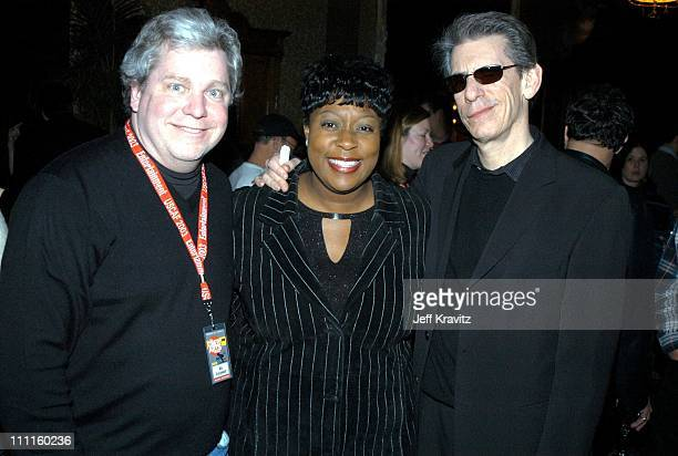 Joe Lockhart Loni Love Richard Belzer during US Comedy Arts Festival AOL Party for Mike Myers at Jerome Hotel in Aspen CO United States