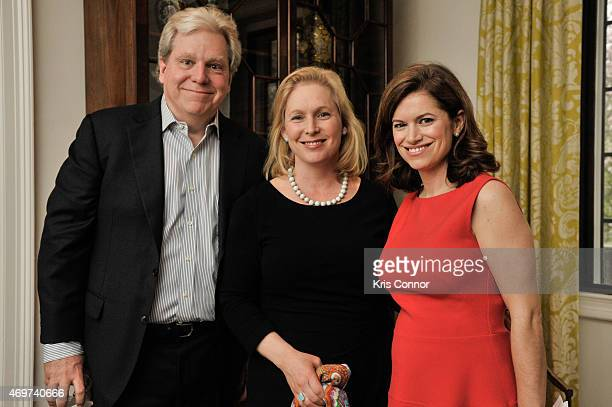 Joe Lockhart Sen Kirsten Gillibrand and New Washington DC Editor Giovanna Gray Lockhart attend a reception to honor Lockhart as the new Glamour...