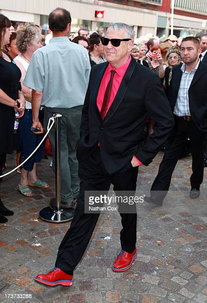 Joe Longthorne attends Bernie Nolan's funeral at Grand Theatre on July 17 2013 in Blackpool England