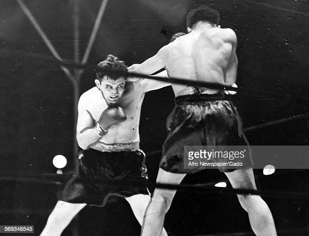 Joe Louis defeating Jim Braddock at Comiskey Park Chicago Illinois June 22 1937