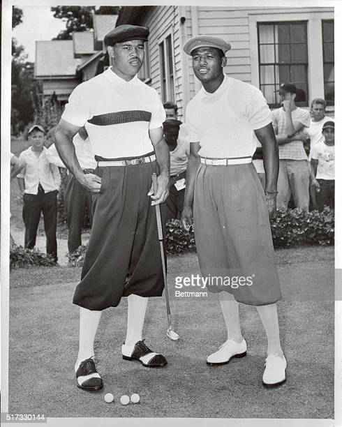 Joe Louis, retired World Heavyweight champion, found the fairways much tougher than the ring. He went down to a 4-2 defeat on the links on the Negro...