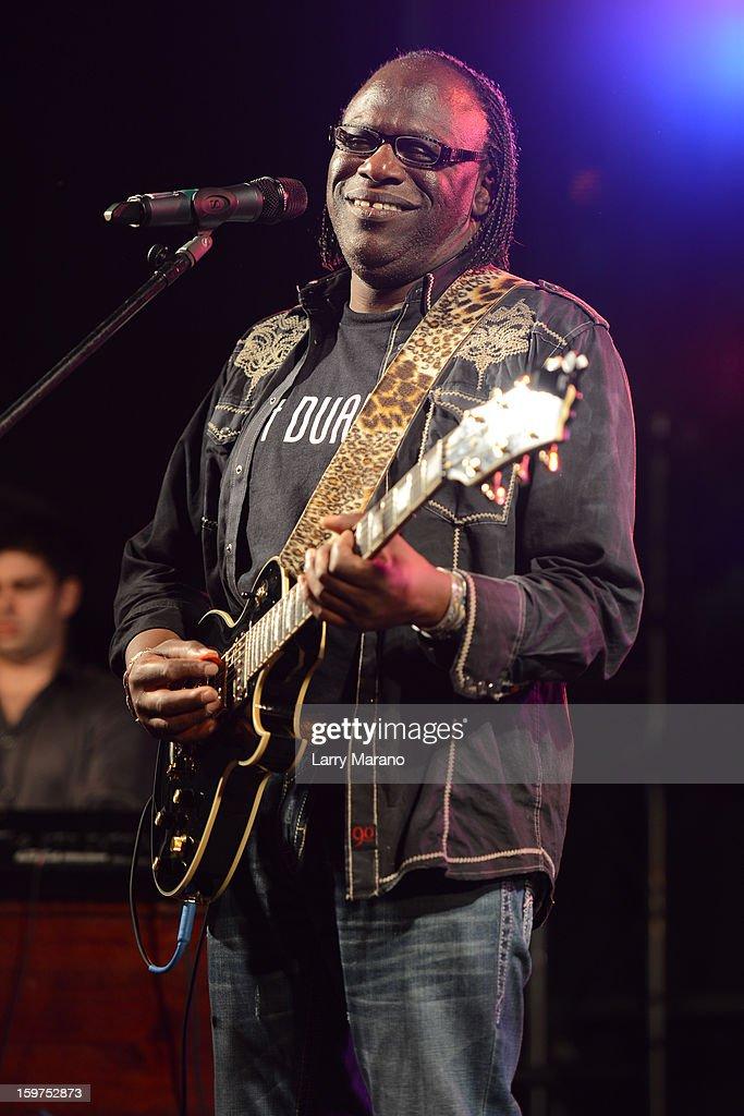 Joe Louis Walker performs during the Sunshine Blues Festival at Mizner Park Amphitheatre on January 19, 2013 in Boca Raton, Florida.
