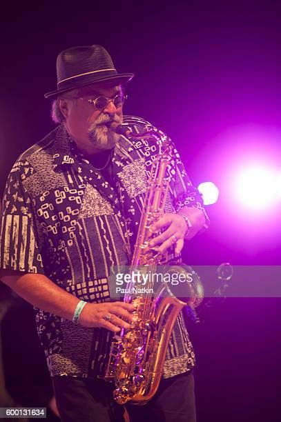 Joe Lovano at the Chicago Jazz Festival at the Pritzker Pavilion in Millenium Park in Chicago Illinois September 4 2016