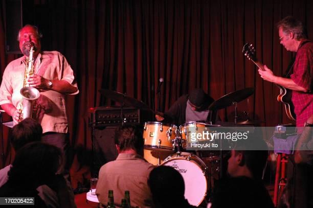 Joe Lovano Bill Frisell and Paul Motian performing at Village Vanguard on Wednesday night September 1 2004This imageFrom left Joe Lovano Paul Motian...