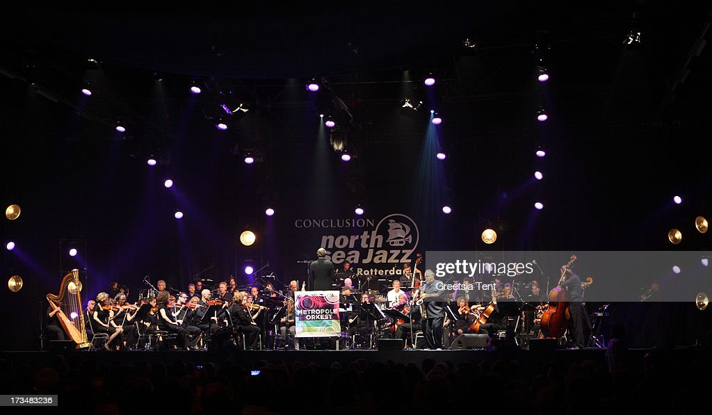Joe Lovano performs with Metropole Orkest at day three of the North Sea Jazz Festival at Ahoy on July 14, 2013 in Rotterdam, Netherlands.