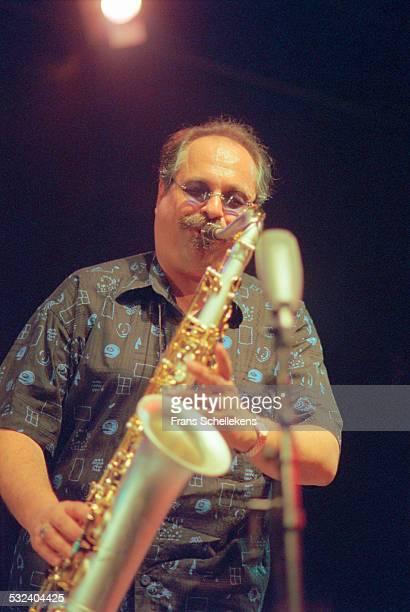 Joe Lovano, tenor saxophone, performs on June 8th 2000 at the BIM huis in Amsterdam, Netherlands.