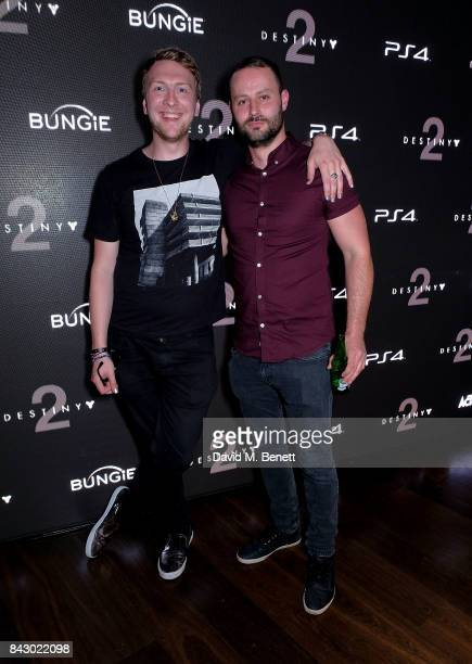 Joe Lycett and a guest attends the Destiny 2 launch event on PlayStation 4 Available from Wednesday 6th September 2017 #Destiny2 at Mondrian Hotel on...