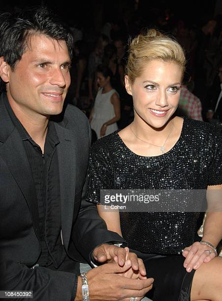 Joe Macaluso and Brittany Murphy during Dom Perignon Karl Lagerfeld and Eva Herzigova Host an International Launch Event to Unveil the New Image of...