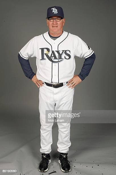 Joe Maddon of the Tampa Bay Rays poses during Photo Day on February 20, 2009 at the Charlotte County Sports Park in Port Charlotte, Florida.