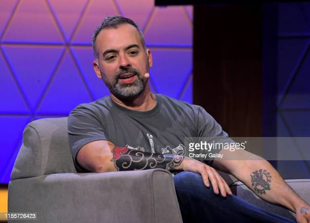 Joe Madureira speaks onstage at the Darksiders Action Adventure Evolved panel during E3 2019 at the Novo Theatre on June 13 2019 in Los Angeles...