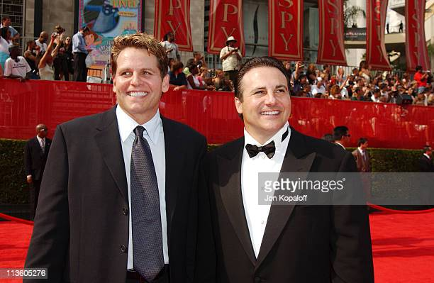 Joe Maloof and brother George Maloof during 2003 ESPY Awards Arrivals at Kodak Theatre in Hollywood California United States