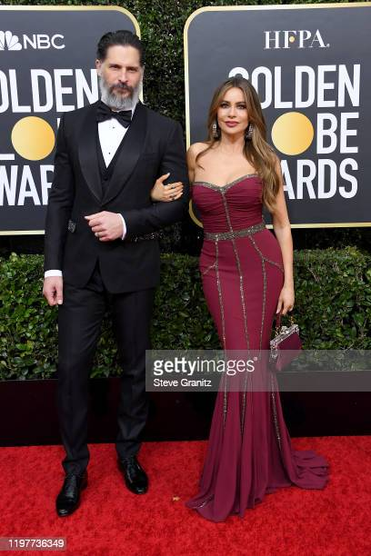 Joe Managaniello and Sofia Vergara attend the 77th Annual Golden Globe Awards at The Beverly Hilton Hotel on January 05 2020 in Beverly Hills...