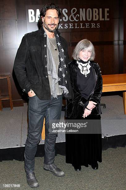 Joe Manganiello and Anne Rice attend a signing for Rice's book 'The Wolf Gift' at Barnes Noble bookstore at The Grove on February 17 2012 in Los...