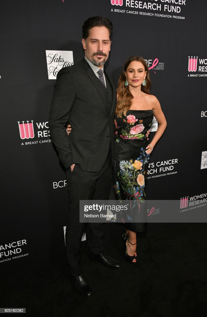 Joe Manganiello (L) and Courage Award recipient Sofia Vergara attend WCRF's 'An Unforgettable Evening' Presented by Saks Fifth Avenue on February 27, 2018 in Beverly Hills, California.