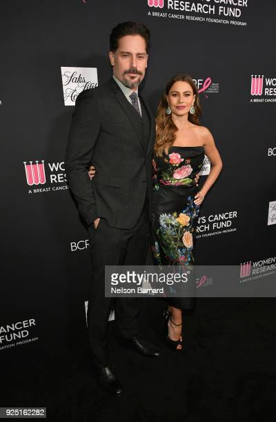 Joe Manganiello and Courage Award recipient Sofia Vergara attend WCRF's An Unforgettable Evening Presented by Saks Fifth Avenue on February 27 2018...