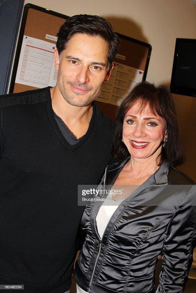 Joe Manganiello and mom Susan Manganiello pose backstage ...