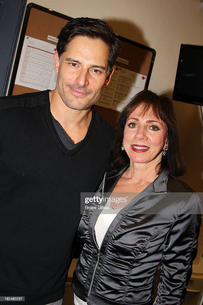Joe Manganiello and mom Susan Manganiello pose backstage at 'Steetcar Named Desire' at Yale Repertory Theater on September 29, 2013 in New Haven Connecticut.