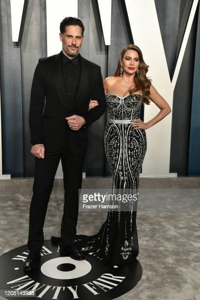 Joe Manganiello and Sofía Vergara attend the 2020 Vanity Fair Oscar Party hosted by Radhika Jones at Wallis Annenberg Center for the Performing Arts...