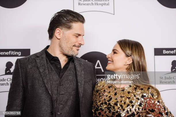 Joe Manganiello and Sofia Vergara arrive at the 2020 LA Art Show Opening Night at Los Angeles Convention Center on February 05, 2020 in Los Angeles,...