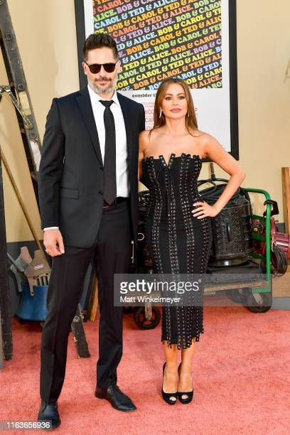 Joe Manganiello and Sofia Vergara attend Sony Pictures' Once Upon A TimeIn Hollywood Los Angeles Premier on July 22 2019 in Hollywood California